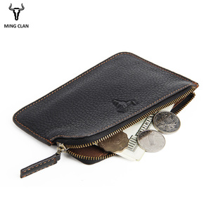 Mingclan, cartera minimalista delgada para mujer, tarjeteros con identificación de viaje, monedero con cremallera, minicartera para hombre, billeteras de bolsillo