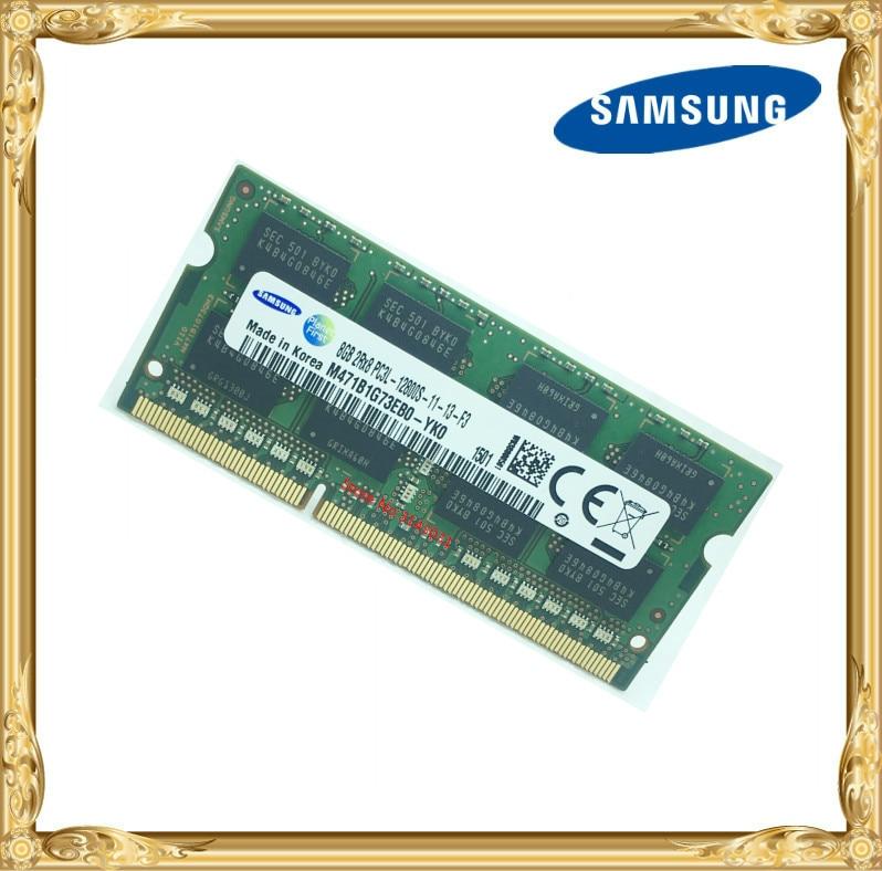 Samsung mémoire D'ordinateur Portable DDR3 8 GB 1600 MHz PC3L-12800S portable RAM 12800 8G 1.35 V