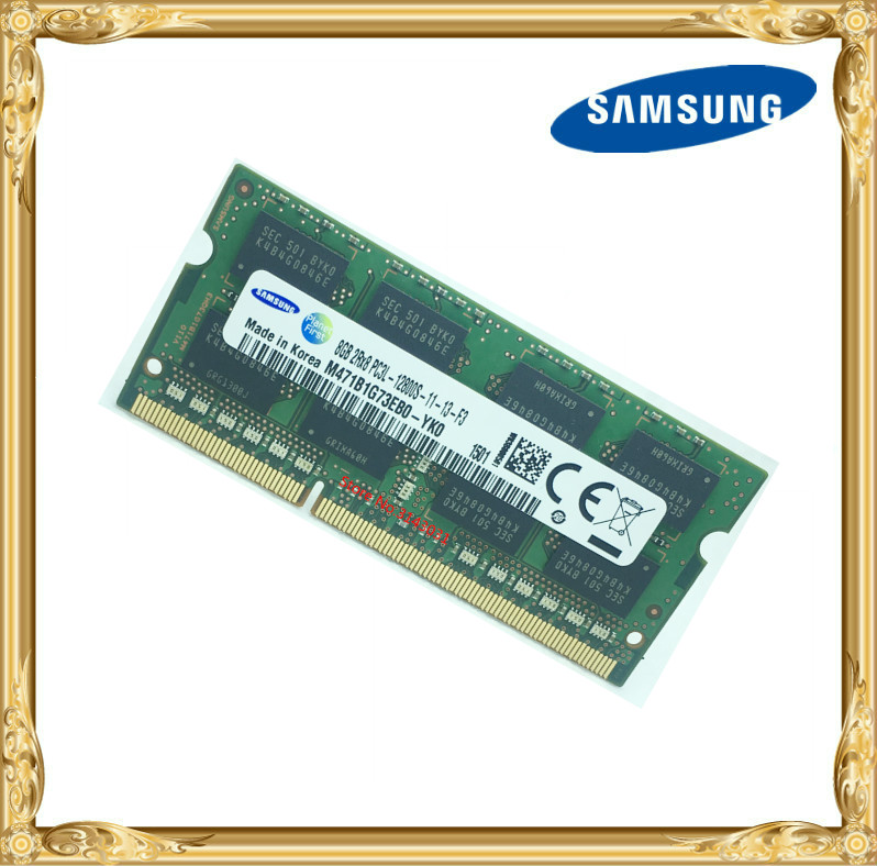 Samsung mémoire D'ordinateur Portable DDR3 8 GB 1600 MHz PC3L-12800S portable RAM 12800 8G 1.35 V