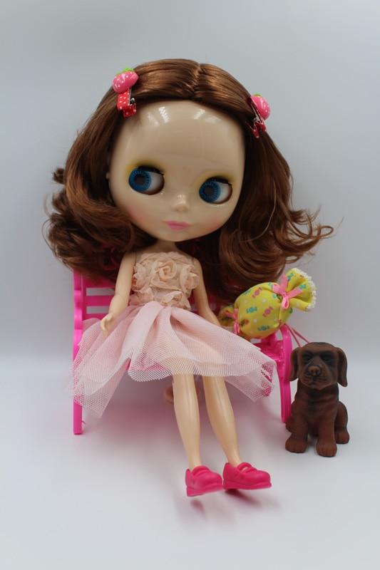 Free Shipping big discount RBL-313DIY Nude Blyth doll birthday gift for girl 4colour big eyes dolls with beautiful Hair cute toy big beautiful eyes косметический набор косметический набор big beautiful eyes