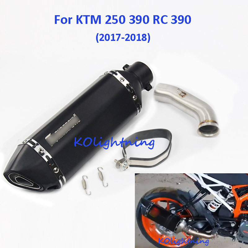 Slip on for KTM 250 390 RC Motorcycle Exhaust System Muffler Pipe Linking Middle For 2017 2018