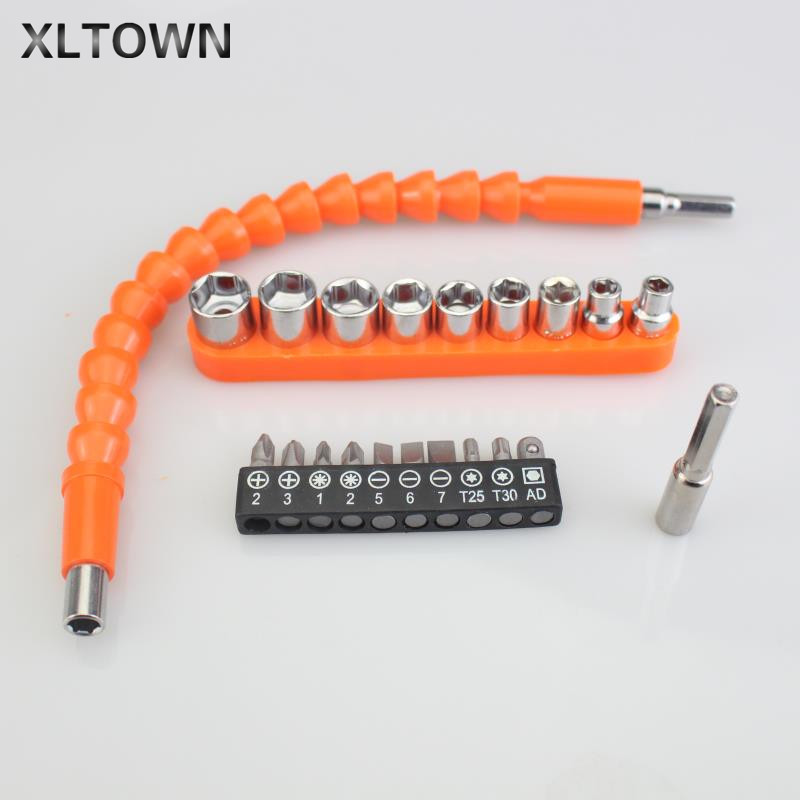 XLTOWN Drill Bits Turning Screwdriver Rechargeable Drill Electric Screwdriver Bit Multifunctional Universal Flexible Shaft