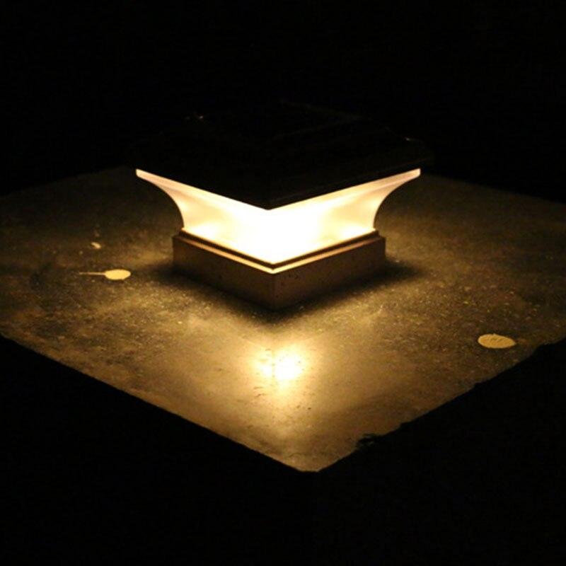 Luces Solares Jardin Cuadrado Plastico Valla Led Amarillo Calido