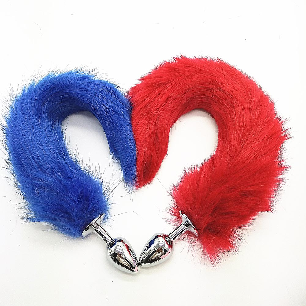 Fox Tail Fake Tail Fetish Fantasy Soft Plush Buttock Props Adult Game For Couple Halloweem Fancy Accessories Plug Butt For Women