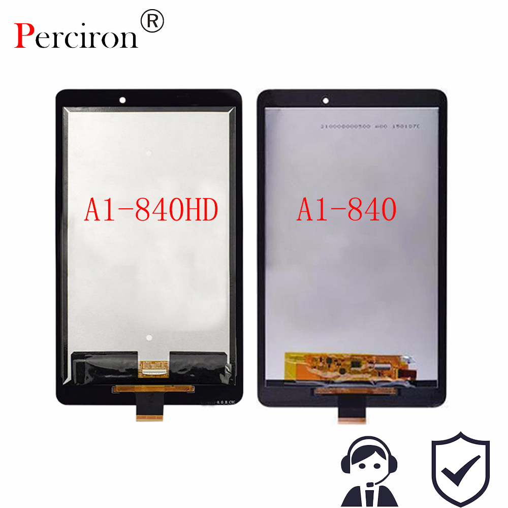 New 8 inch For Acer Iconia Tab 8 A1-840 A1-840HD Full LCD Display + Panel Touch Screen Digitizer Glass Replacement Free Shipping 10 1 inch for acer iconia tab w510 27602g06iss lcd screen with touch screen digitizer assembly lcd full set new