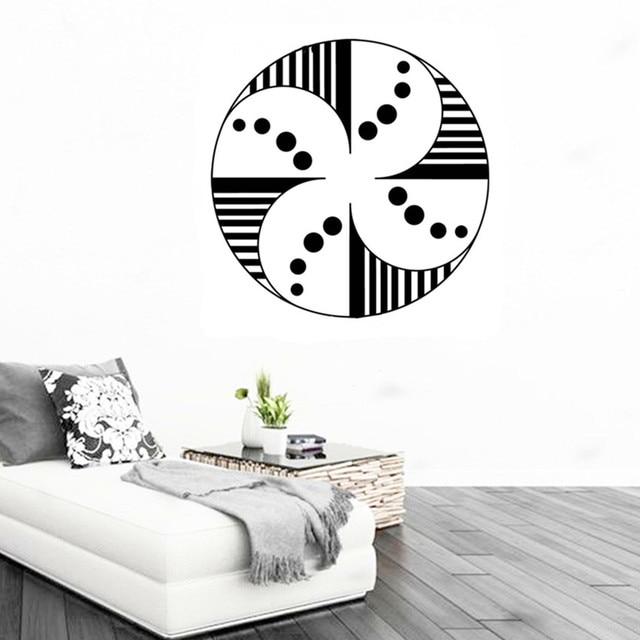 New Escher Geometric Patterns Rolling Ring Wall Sticker Abstract - Custom vinyl wall decals circles