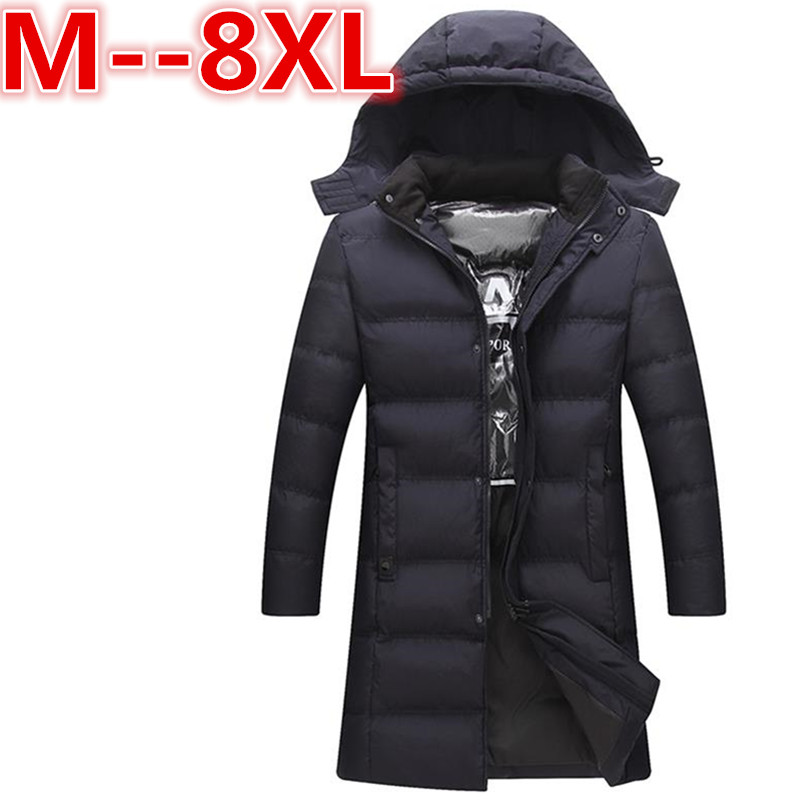 PLUS SIZE 8XL 6XL 5XL Men Winter Jacket Hooded Men Parkas Casual Warm Male Hoodies Fashion Thick Thermal Coats Brand Clothing free shipping winter parkas men jacket new 2017 thick warm loose brand original male plus size m 5xl coats 80hfx