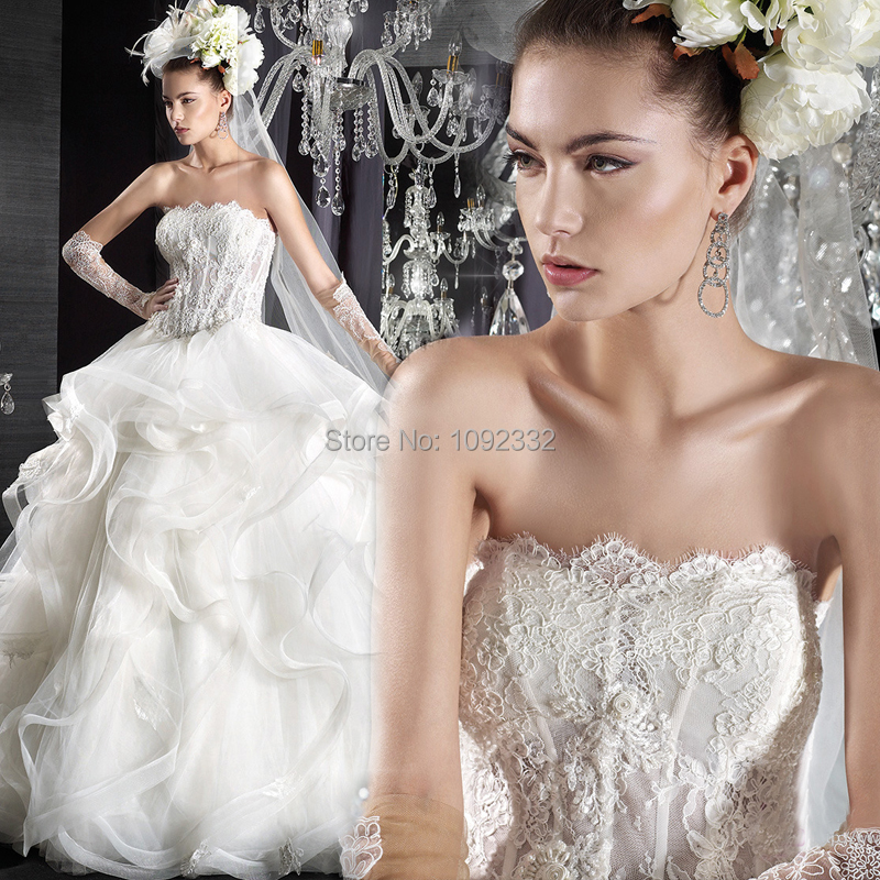 Wedding Gown Bra: 2016 New Arrival In Stock Plus Size Women Bridal Gown