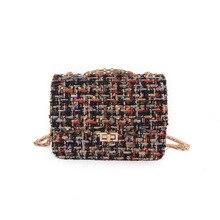 2016 Européen et Américain Femmes Messenger sac De Mode Chaîne En Métal Femelle Bandoulière sacs Tissu Dames Épaule Sac Mini Falp