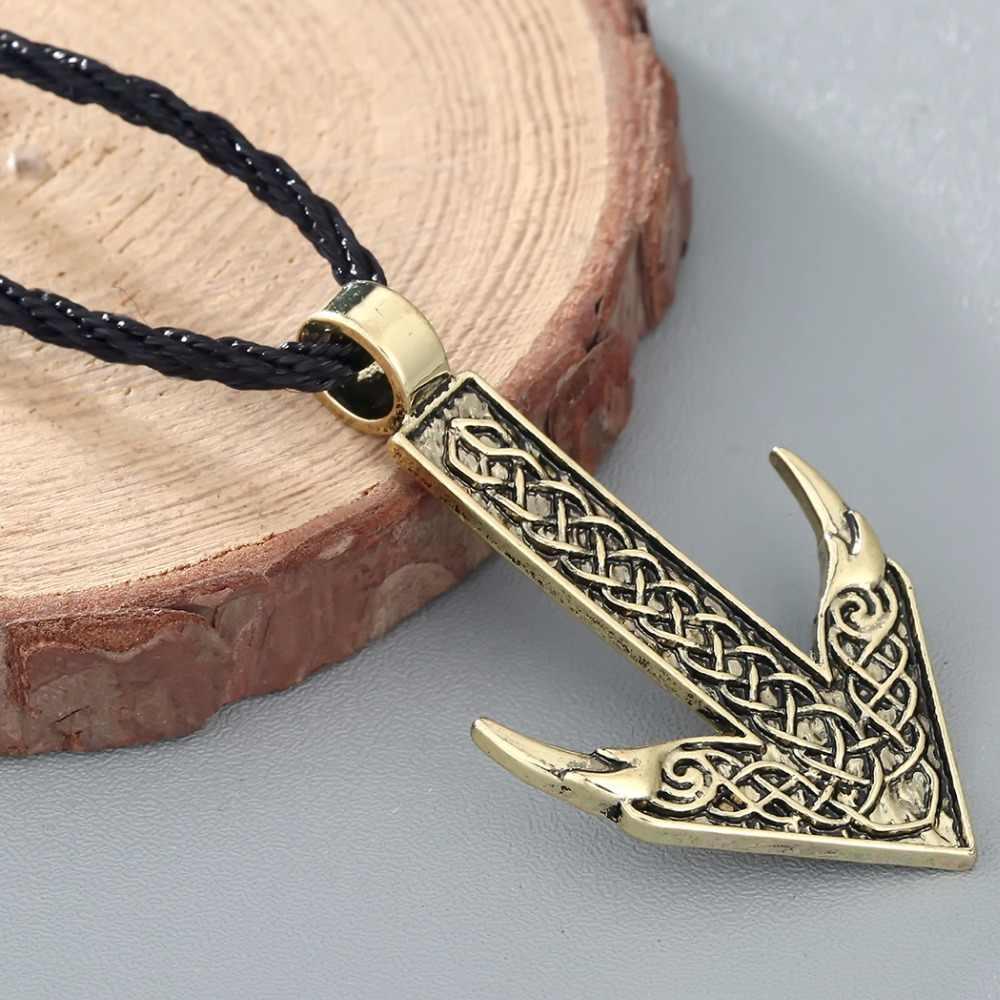 CHENGXUN mężczyźni naszyjnik życie strzałka kierunku Rune amulet Wikinga wisiorek Nordic talizman oryginalna biżuteria dla przyjaciół