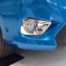 цена на ABS Chrome For Toyota Vios/Yaris sedan 2014 2015 2016 Car Styling Accessories Car front fog lamp Light Cover Trim
