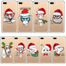 christmas Cartoon animals dogs cats owls camels monkey cute pattern cover phone case for iPhone 7 8 9 6s 10 Plus X 5 5s se 6