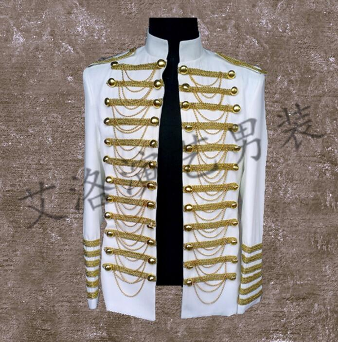 Men Suits Designs Masculino Homme Terno Stage Costumes For Singers Men Royal Blazer Dance Clothes Jacket Style Dress Punk White