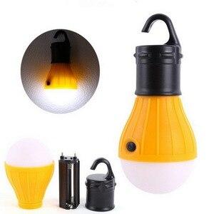 Image 3 - Miniluz de noche para exterior, 1 Uds., bombilla LED para tienda de acampar, impermeable, gancho colgante, lámpara de emergencia para acampar o lámpara de pesca, uso 3 * AAA