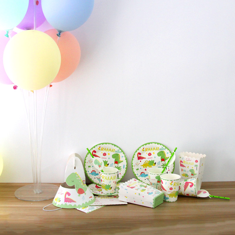 Dinosaur Them Kids Birthday Baby Shower Party Supplies Tableware Decor Plates