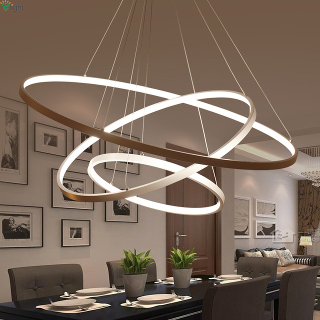 Modern diy aluminum ring led pendant chandelier light lustre acrylic modern diy aluminum ring led pendant chandelier light lustre acrylic bedroom hanging lights dining room led mozeypictures Gallery