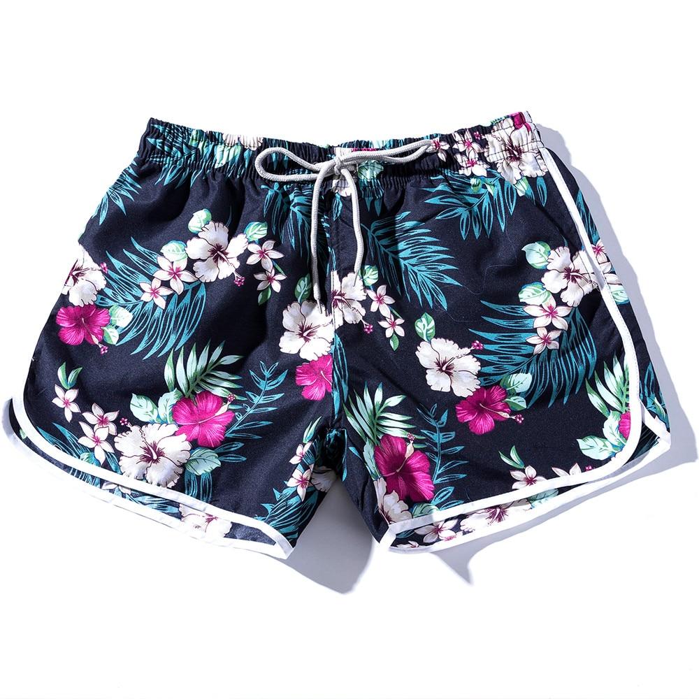 SAGACE 2019 New Arrival Men Shorts Summer Couples Beach Floral Bohe Swim Shorts Trunks Nickel Shorts Daily Denim Color Skinny Рубашка