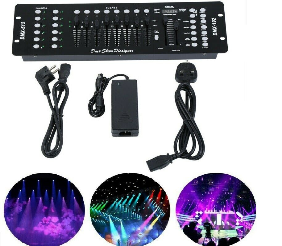 192 Channels DMX512 Controller Console For Stage Light Disco Party