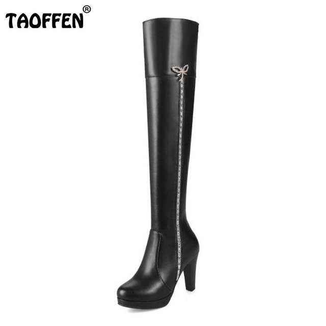 Size 30-45 New Arrival Women's over Knee High Snow Boots Shoes Lace Decoration Warm Winter Boots Long Boots 2015 new outlet for cheap outlet manchester great sale free shipping for nice pay with visa sale online 37OwTS6BUn