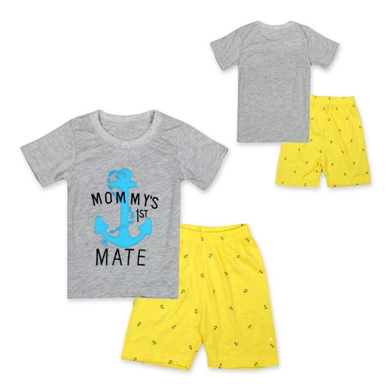 9da020f10 Niños ropa set niños verano trajes niños chándal camiseta + Pantalones  pijamas del bebé del algodón