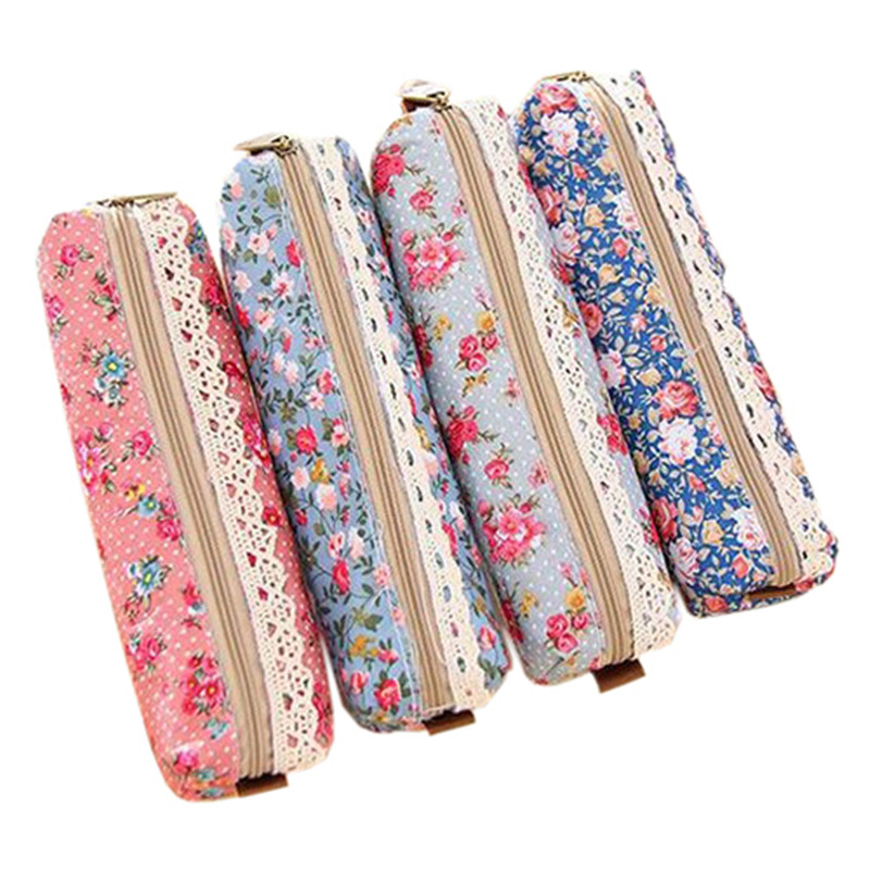 Flower Print Lace Makeup Cosmetic Bag Pouch travel organizer make up cosmetic bags Bolsa de maquillaje Trousse de maquillage fashion travel cosmetic bag makeup case multifunction organizer trousse de maquillage necessaire free shipping