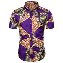 Social Mens Shirts Casual Summer Blouse Men Hawaiian Shirt for Short sleeve Fashion New arrival