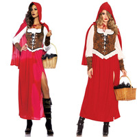 2018 new luxury Little Red Riding Hood costume Adult female Renaissance Court maid Dress Halloween stage performance costumes