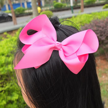 Color hair bow large