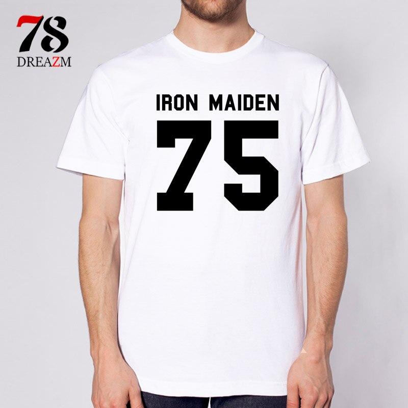 Iron maiden t shirt male Printed T Shirt font b Men b font T Shirt font