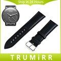 18 мм Натуральная Кожа Ремешок Для Часов + Инструмент для Withings Activite/сталь/Поп-Huawei Watch Band Ремешок Браслет Черный коричневый