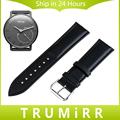 18mm Correa De Piel Genuina + Herramienta de Withings Activite/acero/pop huawei watch banda de pulsera pulsera de la correa negro marrón