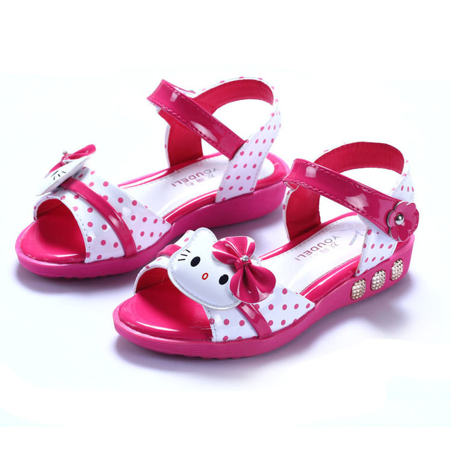 118c3b548694 new 2016 Free shipping pink hello kitty summer girls sandals kids children boots  shoes Kids sandals with magic tape