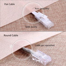 CAT6 Flat Ethernet Cable 250MHz 1000Mbps CAT 6 RJ45 Networking Ethernet Patch Cord LAN Cable for Computer Router Laptop