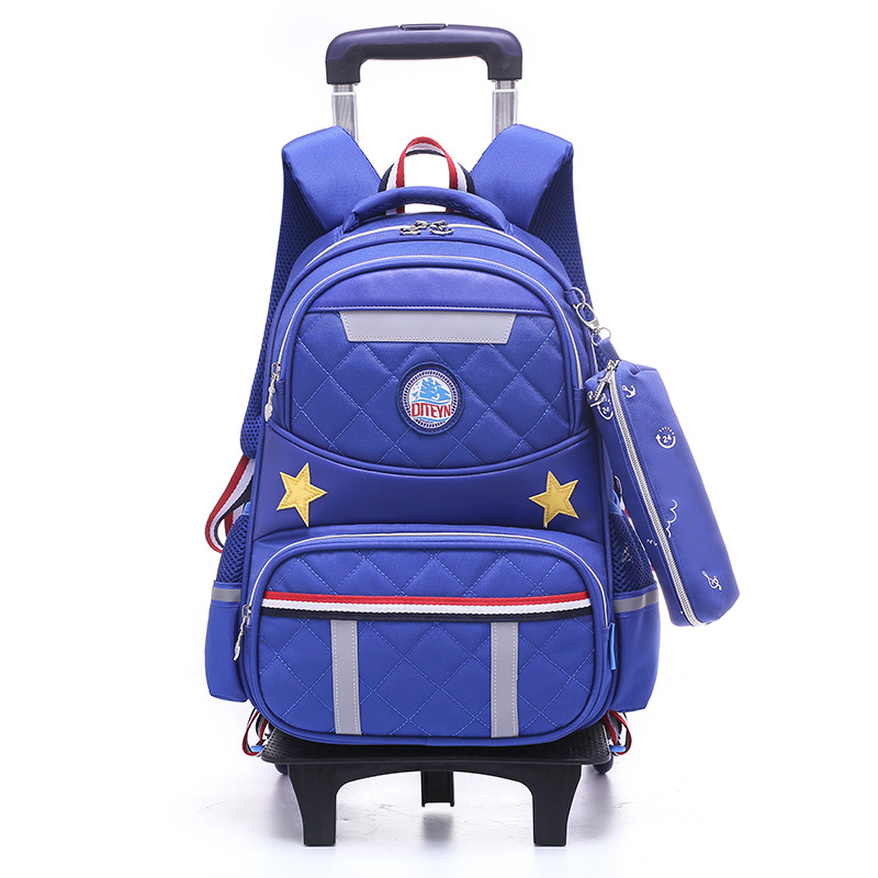 Waterproof Trolley School Bags boys Girls Children School backpacks Wheels Travel Bags Luggage Backpacks Kids Rolling Schoolbags