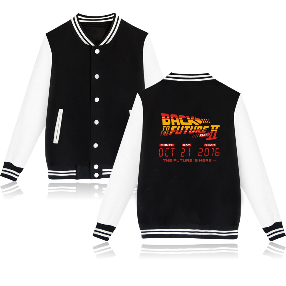 4 colors women/ men back to the future baseball jacket sad boys female jacket for women back to the future coat