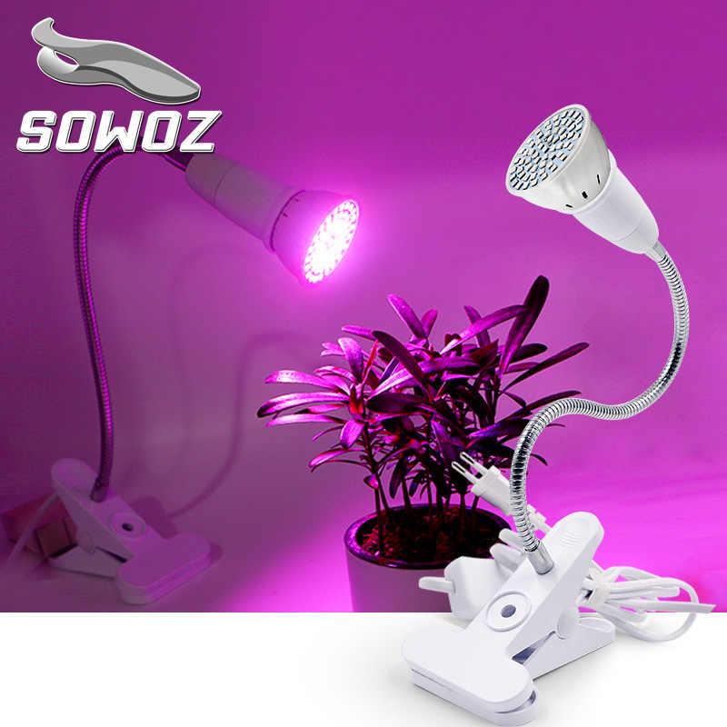SOWOZ E27 screw socket metal hose bracket indoor AC220V plant growth lamp multi-flesh plant supplementary lamp