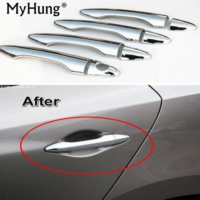 Car Styling Door Handle Cover Trim Fit For Hyundai Tucson IX Ix35 2010 2011 2012 2013 2014 Abs Chrome 8pcs Per Set