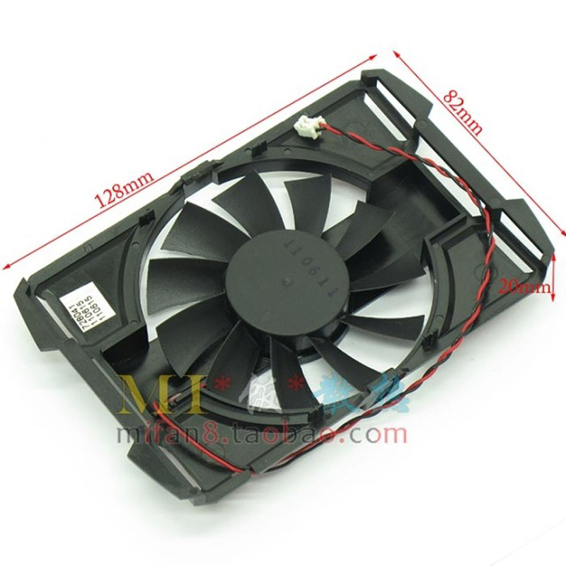 Computer VGA Cooler Fan With Frame For ASUS EN9600GSO/TC512/DI/256M/A EN9600GSO Vedio Card Heatsink Cooling