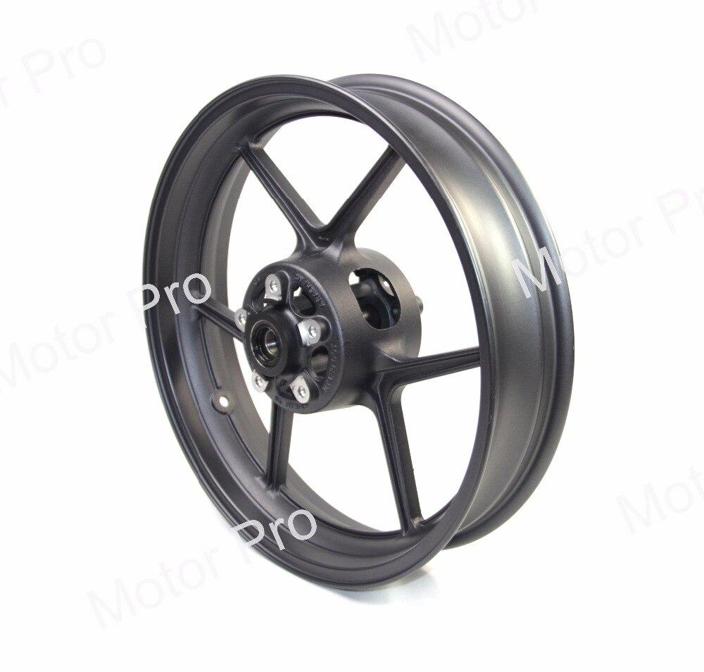 ZX 10R Front Wheel Rim For KAWASAKI NINJA ZX10R 2004 2005 Motorcycle Accessoires CNC Aluminum ER6N Z750 Z800 Z1000SX 04 05 BLACK