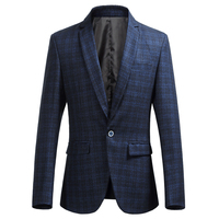 Large Size Plaid Men's Suit Jackets Fashion Business Youth Casual Wear LEFT ROM Hot New Men Suits & Blazers S M L XL2XL 3XL 6XL