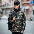Мода камуфляж с капюшоном ветровки пальто мужчины утолщение теплый хлопок-проложенный зима куртки мужские мужская одежда размер m-5xl MF14-1