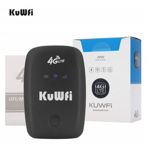 Image 5 - KuWFi Unlocked 4G LTE Wifi Router Mobile Portable 3G/4G Wifi Router with SIM Card Slot Support LTE FDD B1/B3/B5