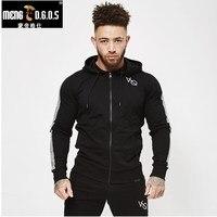 Autumn Winter Men Fitness Hoodie Crossfit Pullover Zipper Jacket Sweatshirt Bodybuilding Sportswear Fashion Top Coat Clothing