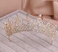 Красный / ясно свадебные кристалл тиара коронки принцесса королева театрализованное пром горный хрусталь завеса тиара повязка на голову свадебные волос