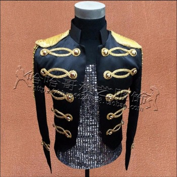 S-3xl Plus Size Men Sequin Clothing Sequined Lace Suit Coat Bar Nightclub Stage Suit Jacket Singer Presided Blazers Costumes