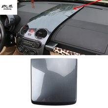 1pc carro adesivos de fibra de carbono abs material instrumento painel decoração capa para 2003-2012 volkswagen vw beetle