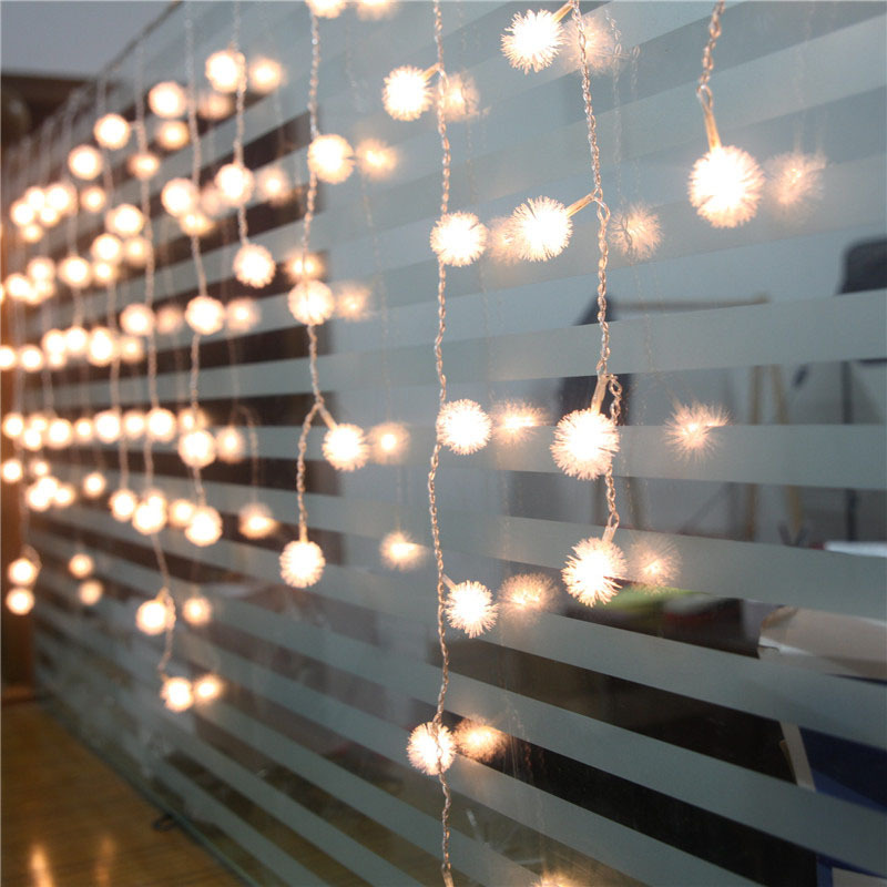 1505 led string fairy lights curtain icicle christmas lights edelweiss luminaria navidad wedding xmas party home decoration in led string from lights