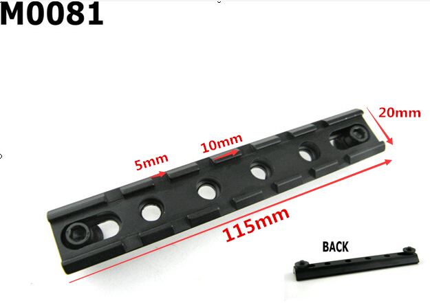 Tactical Military Picatinny RIS 20mm Standard Weaver Rail Mount Base Plane Bottom Pistol Airsoft Hunting Caza