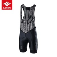 Santic Men Cycling Bib Shorts Bibs 4D Padded For Long Distance Rides Comfortable Breathable Quick Dry