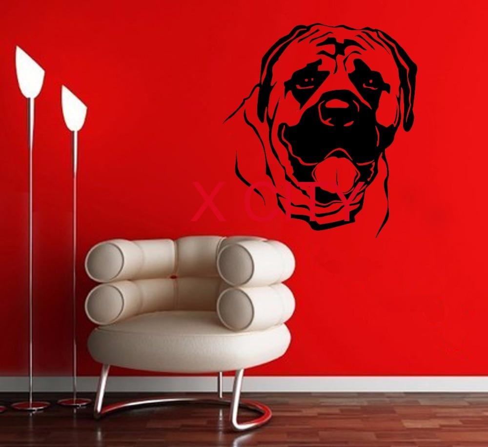 1d91fe16 ⓪Wall Art Vinyl Naklejki Ścienne Zwierząt Pies mastif Doggie ...